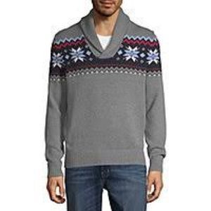 NWT St. John's Bay XL Gray Snowflake Sweater